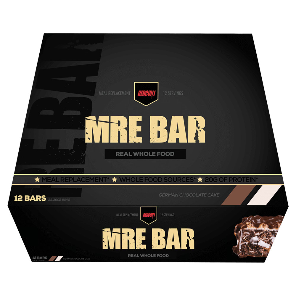 RedCon1 MRE Protein Bar Protein Bar Box of 12 / German Chocolate Cake at Supplement Superstore Canada