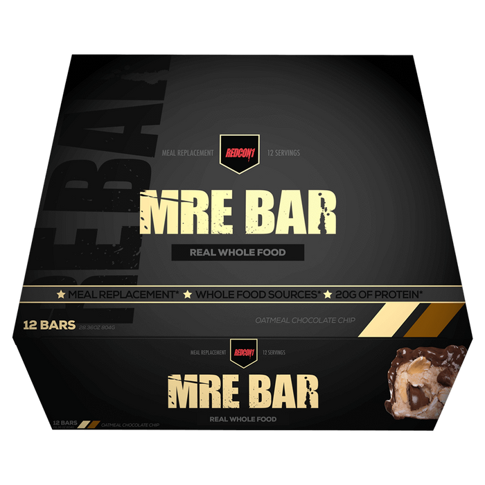 RedCon1 MRE Protein Bar Protein Bar Box of 12 / Oatmeal Chocolate Chip at Supplement Superstore Canada
