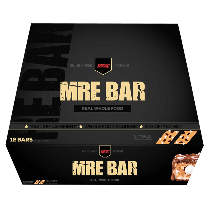 RedCon1 MRE Protein Bar Protein Bar Box of 12 / S'mores at Supplement Superstore Canada