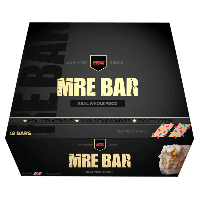 RedCon1 MRE Protein Bar Protein Bar Box of 12 / Sprinkled Donut at Supplement Superstore Canada