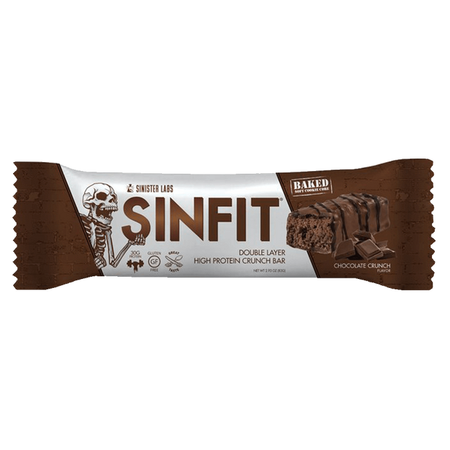 Sinister Labs Sin Fit Protein Bar Protein Bar 1 Bar / Chocolate Crunch at Supplement Superstore Canada