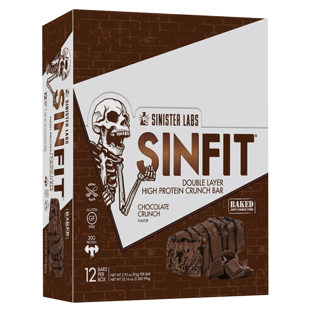 Sinister Labs Sin Fit Protein Bar Protein Bar Box of 12 / Chocolate Crunch at Supplement Superstore Canada