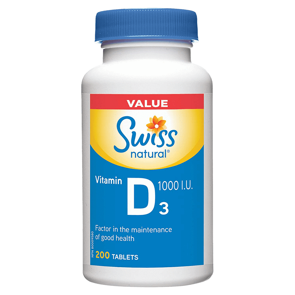 "Swiss Natural Vitamin D3 Individual Vitamin 200 Tablets ""Value Size"" at Supplement Superstore Canada"