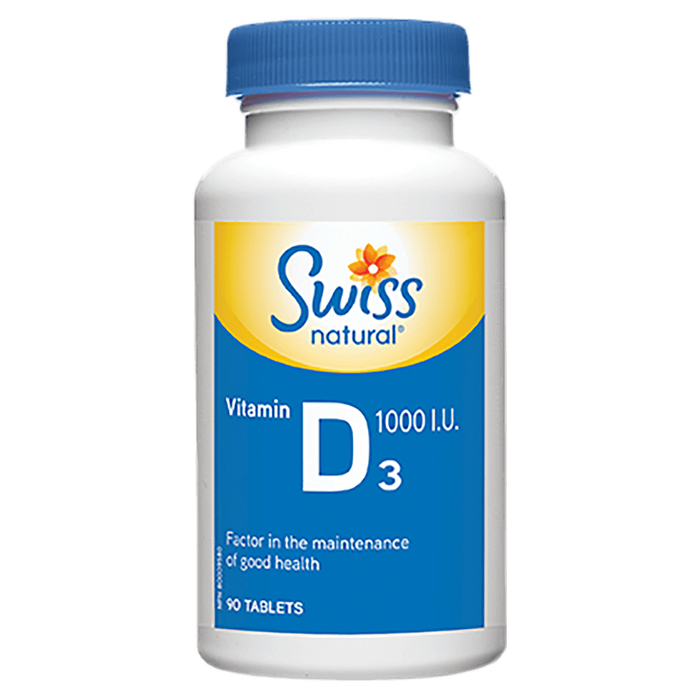 Swiss Natural Vitamin D3 Individual Vitamin 90 Tablets at Supplement Superstore Canada