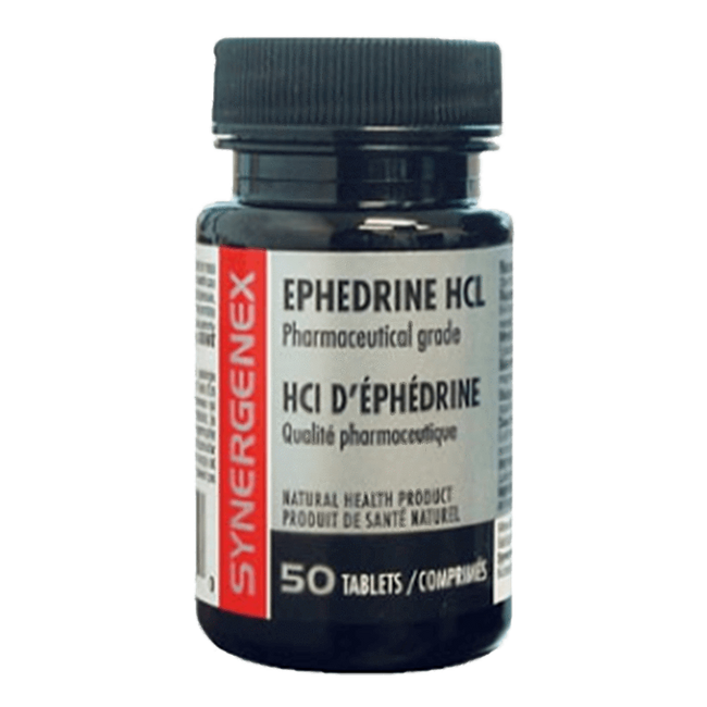 Ephedrine by Synergenex Nasal Decongestant Stimulant at Supplement Superstore Canada
