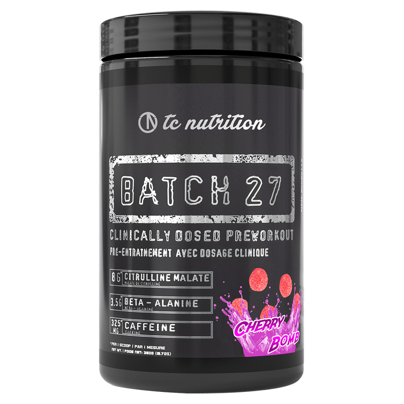 TC Nutrition Batch 27 Pre Workout 20 Servings / Blue Slushie at Supplement Superstore Canada