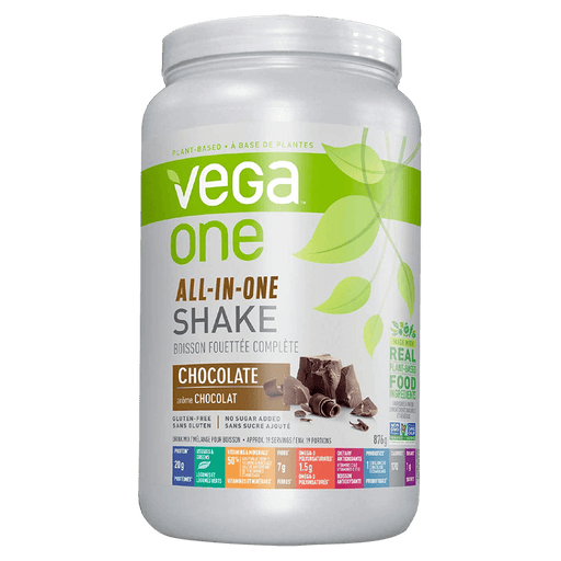 Vega One All-In-One Shake Protein Powder 1.93lb / Chocolate at Supplement Superstore Canada 838766105208