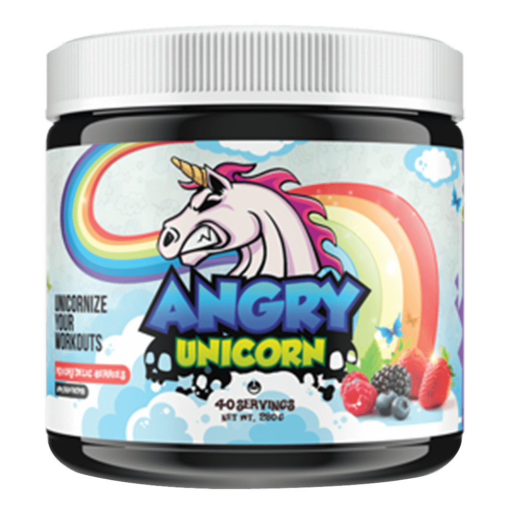 Yummy Sports Angry Unicorn Pre-Workout 40 Servings / Psychedelic Berries at Supplement Superstore Canada
