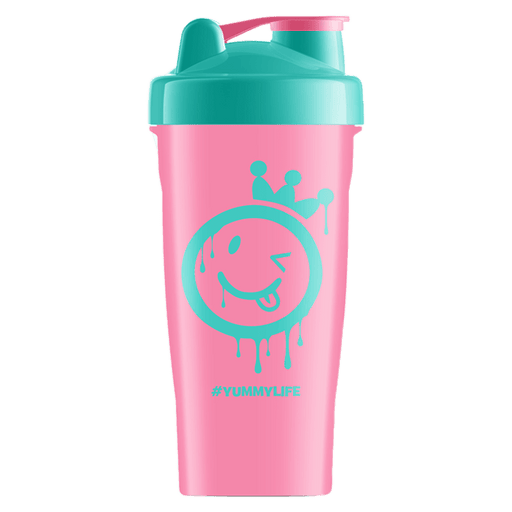 Yummy Sports Shaker Cup Gym Accessories 700ml / Pink/Teal at Supplement Superstore Canada