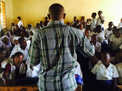 A packed classroom in a primary school in Tanzania