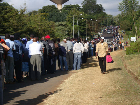Lines for the Elections in Kenya