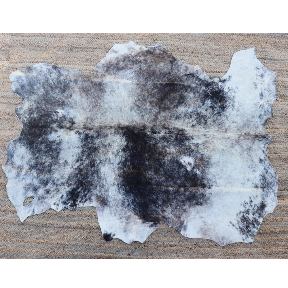 A grey cowhide rug from Kenya
