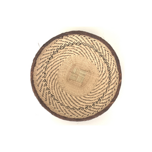 Fair Trade Binga Basket against a white background handmade by women artisans in Zimbabwe