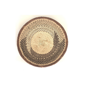 Fair Trade Binga Basket with a swirl pattern against a white background