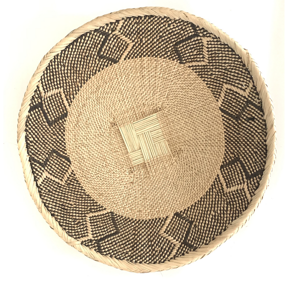 A 16 inch Fair Trade Binga Basket against a white background