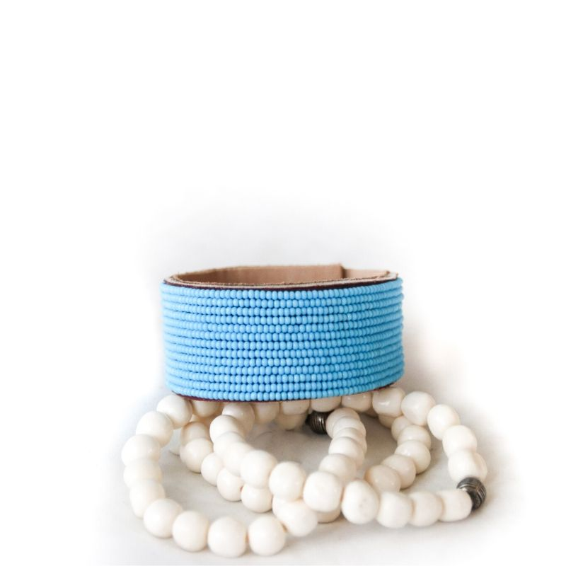Turquoise Amani Leather Bracelet