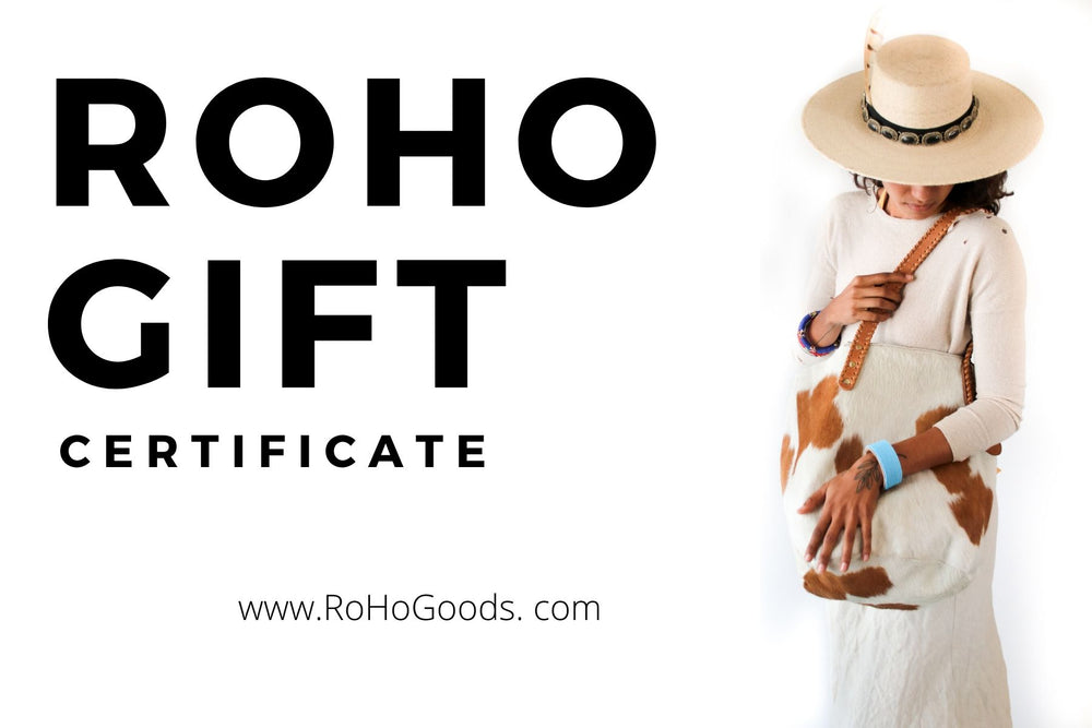 A Gift Certificate for a fair trade gift, ethically made sandals, Kenyan jewelry and more