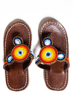 Kid's Duru Red Round Sandal