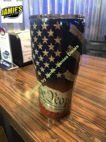 2nd Amendment Tumbler -Made to Order - Personalized Tumbler - Jamies Decals