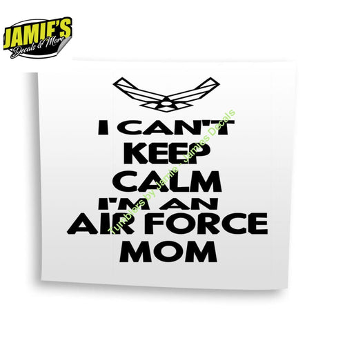 Air Force MOM Decal - Four Sizes - Color Options - Jamies Decals