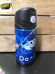 Baby Shark Do- do do inspired - Sippy Cup - Made to order - Personalized Just for you. - Jamies Decals