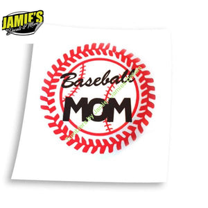 Baseball Softball Lace Decal - Four Sizes - Color Options - Jamies Decals