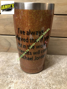Basketball Tumbler - Bling Tumbler -Made to Order - Personalized Decal Tumbler - Jamies Decals