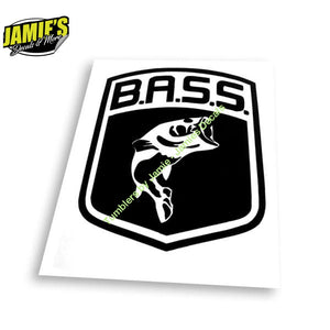 Bass Decal - Four Sizes - Color Options - Jamies Decals