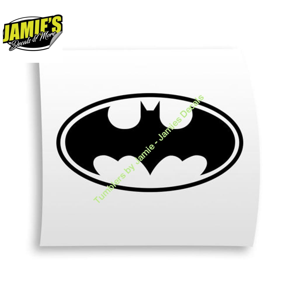 Batman Decal - Four Sizes - Color Options - Jamies Decals