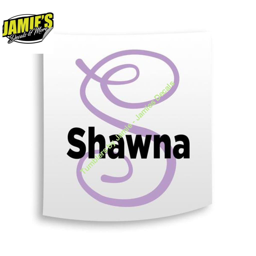Big Letter and Name Decal - Four Sizes - Color Options - Jamies Decals