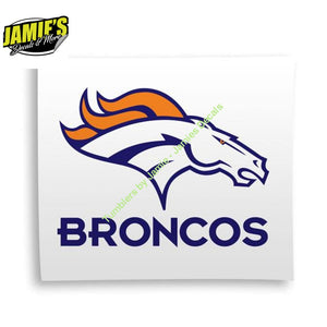 Broncos Decal - Four Sizes - Color Options - JD version - Jamies Decals