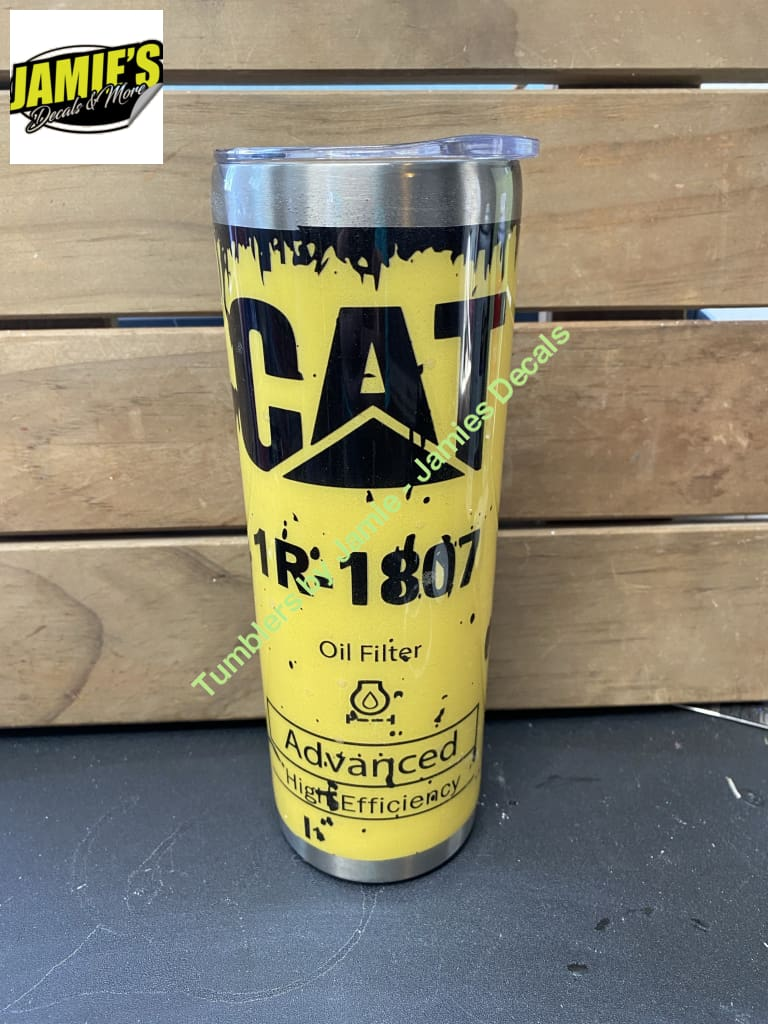 CAT 20 Skinny Tumbler - Made to order Ready to Ship