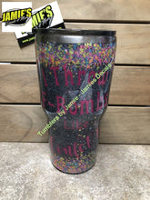Confetti Tumbler - I throw the F bomb like confetti -Glitter Tumbler - Made to Order - Jamies Decals