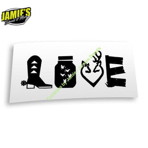 Country Love Decal - Four Sizes - Color Options - Jamies Decals