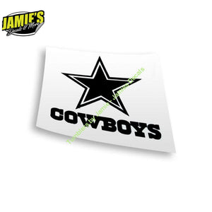Cowboys Decal - Four Sizes - Color Options - Jamies Decals