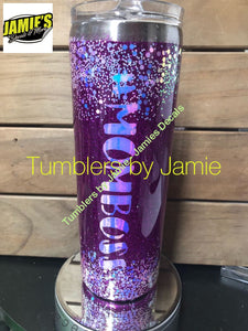 Custom Tumbler - Glitter Tumbler - Personalized Just for you - - Jamies Decals