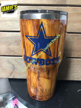 Custom Woodgrain Tumbler - Made to order - Personalized Decal Tumbler - Jamies Decals