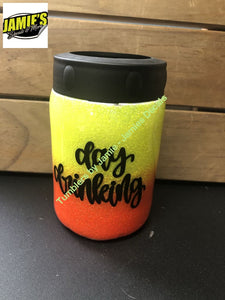 Day Drinking Glitter Tumbler  - Glitter Tumbler -Made to Order - Jamies Decals