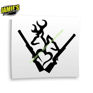 Deer Doe Heart Decal - Four Sizes - Color Options - Jamies Decals