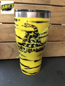 Dont tread Tumbler - Glitter Tumbler -Made to Order - Jamies Decals