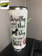 Dorthy and her Dog - Wizard of Oz inspired Tumbler - Glitter Tumbler  - Glitter Tumbler -Made to Order - Jamies Decals