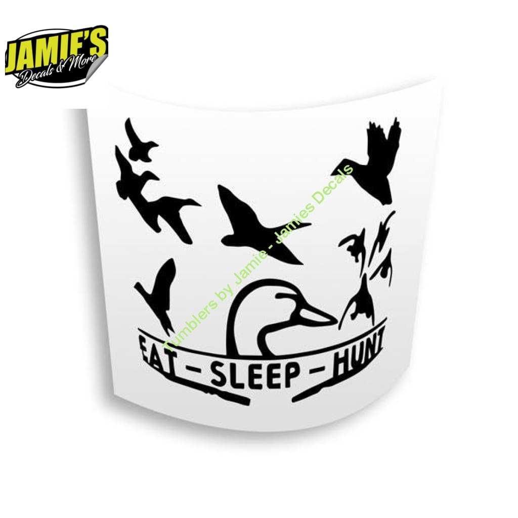 EAT Sleep Hunt Decal - Four Sizes - Color Options - Jamies Decals