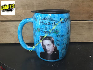 Elvis Presley inspired Tumbler - color options - size options - Jamies Decals