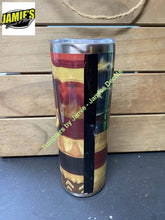 Flag / Deer 20 skinny Tumbler -Made to Order - Personalized just for you 20 skinny Glitter Tumblers