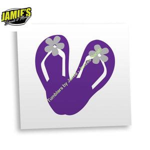 Flip Flop Decal - Four Sizes - Color Options - Jamies Decals