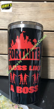 Fortnite inspired Tumbler - Floss like a boss - color options - size options - Jamies Decals