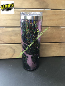 Galaxy Tumbler  - Glitter Tumbler -Made to Order - Jamies Decals