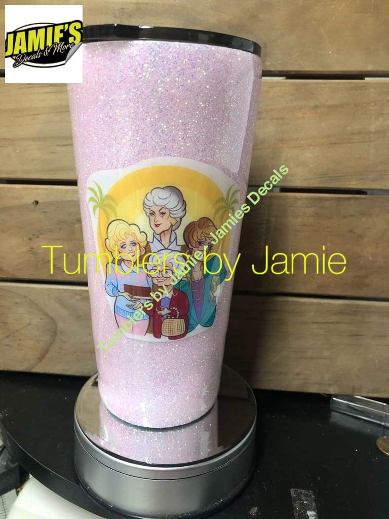 Golden Girls Inspired - Glitter Tumbler - Glitter Tumbler - Bling Tumbler -Made to Order - Jamies Decals
