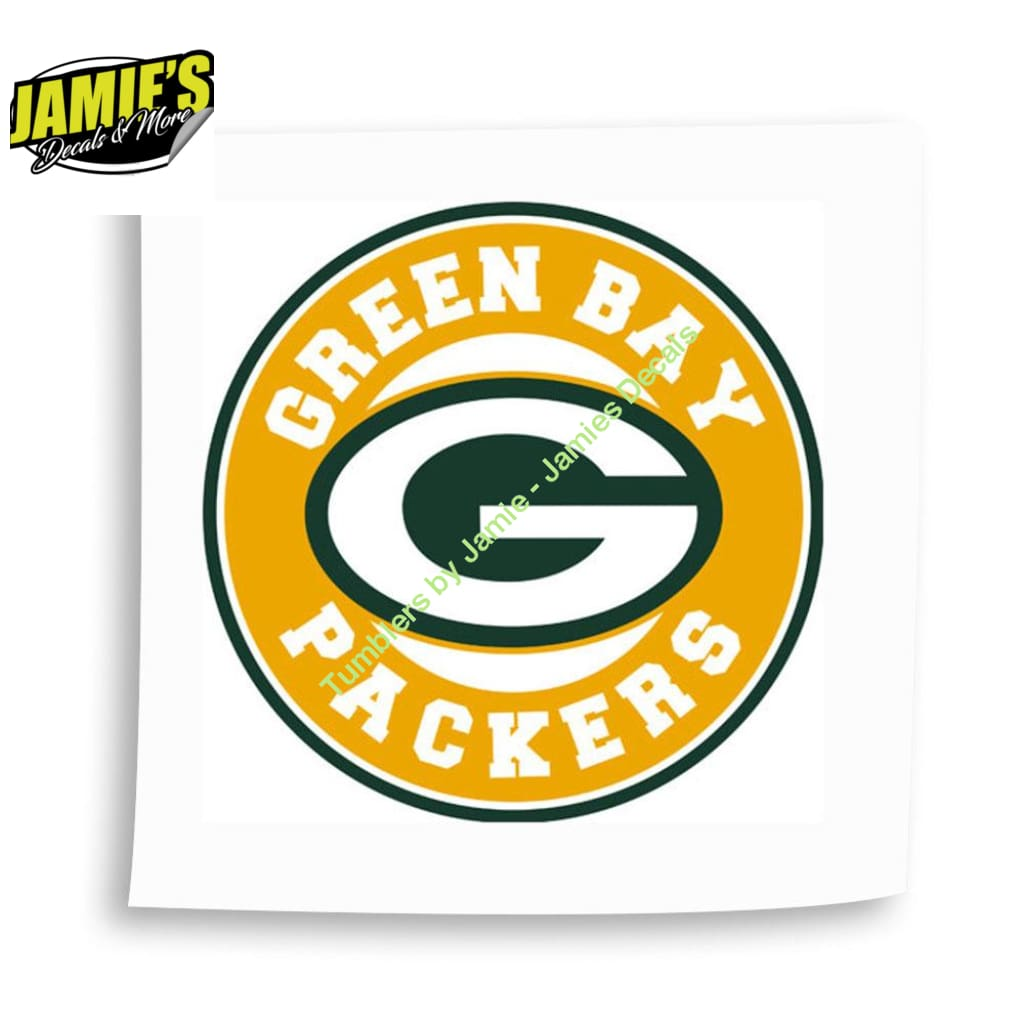 Green Bay Decal - Four Sizes - JD Version - Jamies Decals