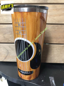 Guitar inspired - Wood Grain Tumblers - Jamies Decals